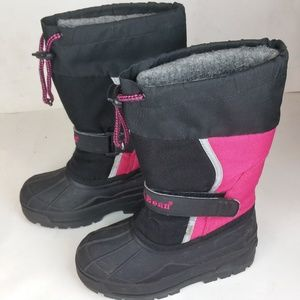 LL Bean Pink Northwoods Snow Rain Liner Boots 12